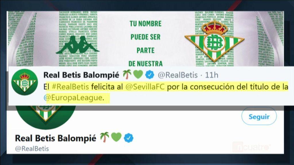La felicitación del Betis al Sevilla que ha levantado ampollas