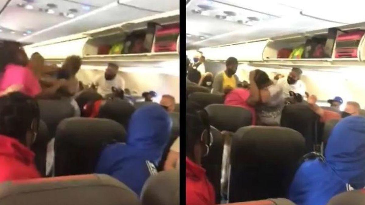 Dos mujeres la emprenden a golpes en un avión porque una de ellas se negaba a usar mascarilla