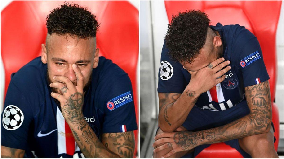 """Las lágrimas de Neymar tras perder la Champions: """"Nos volveremos a ver"""""""