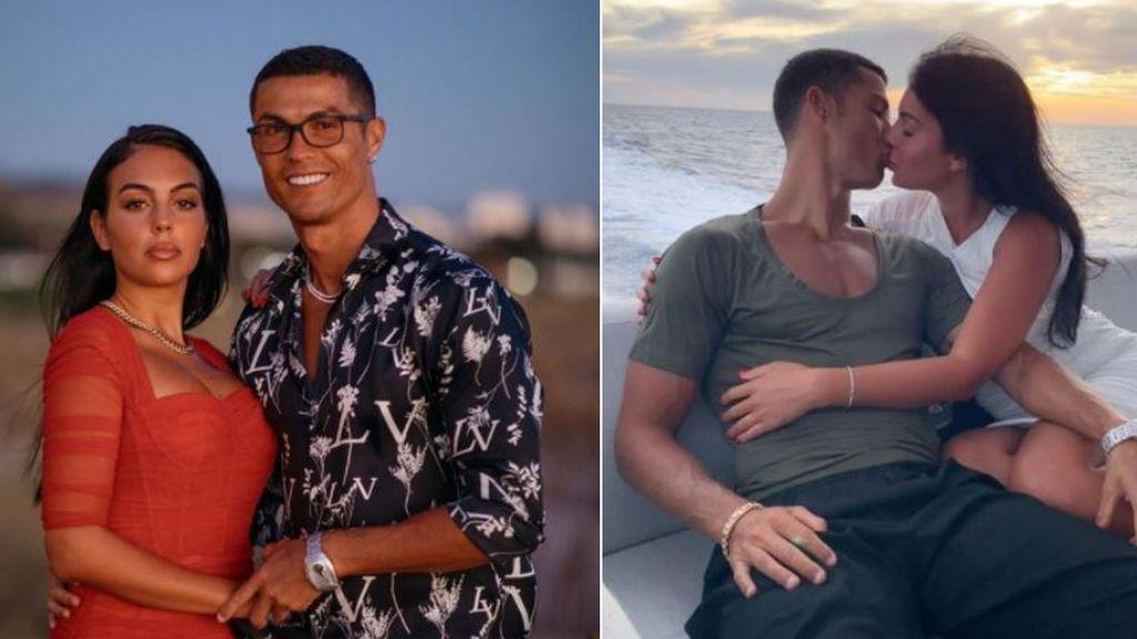 """El detalle del último posado de Cristiano Ronaldo que dispara los rumores de boda con Georgina: """"Si"""""""