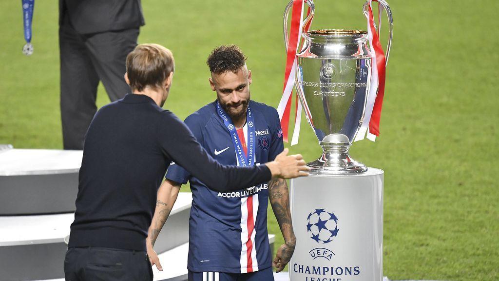 Neymar recibe el apoyo de Tuchel tras perder la Champions.