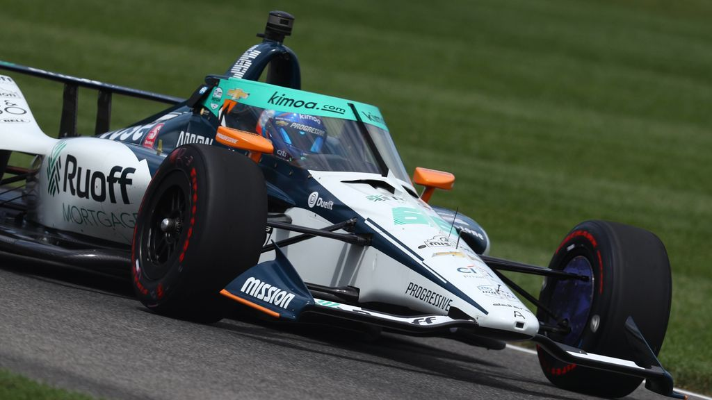 Fernando Alonso, en la Indy 500.