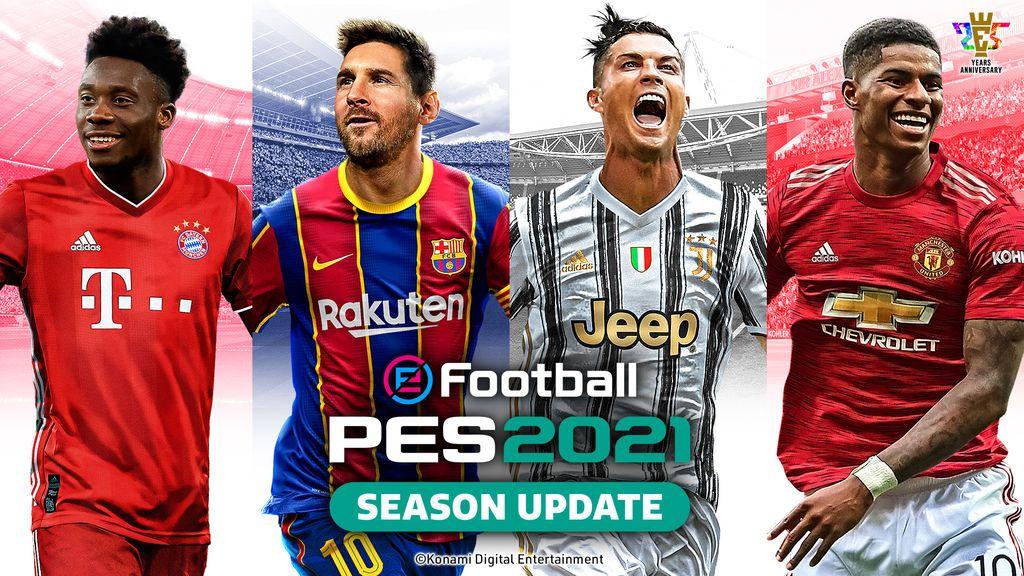 Messi y Cristiano comparten portada en eFootball PES 2021
