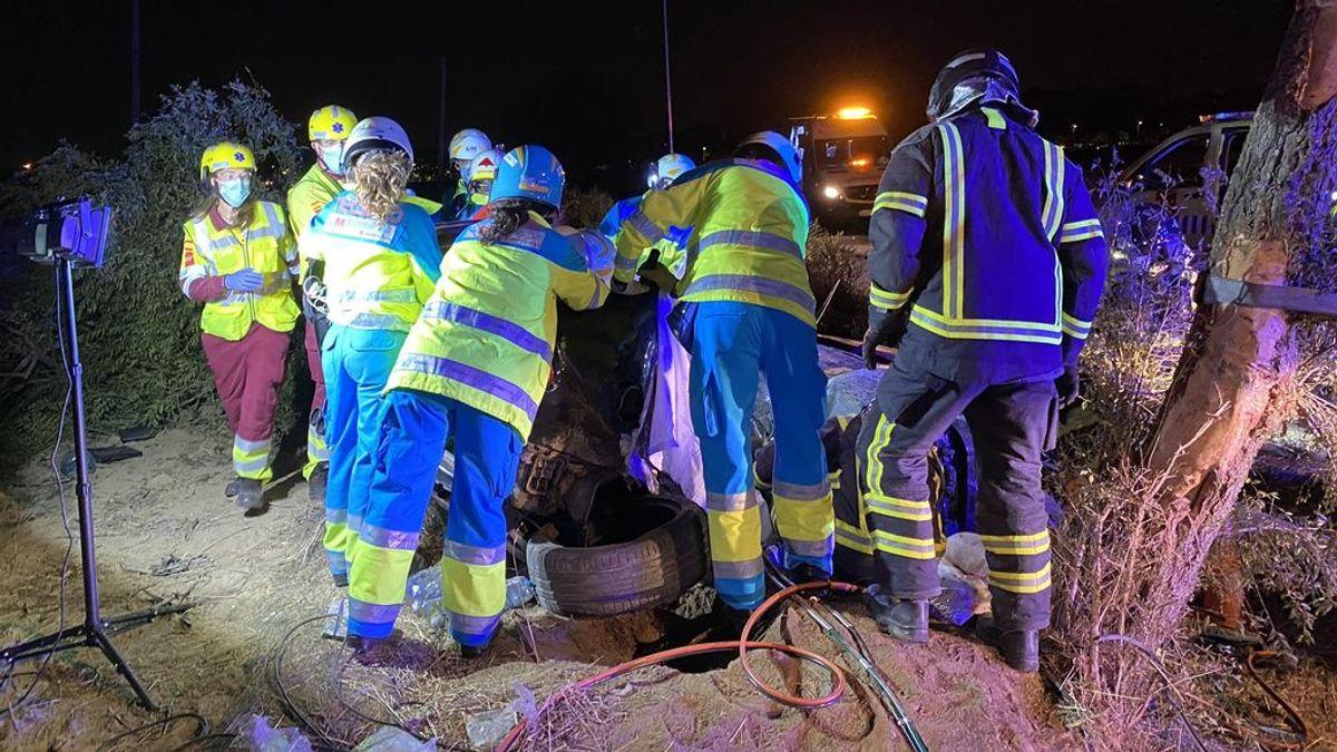 Detenidos los ocupantes del coche que se dio a la fuga tras un accidente con tres muertos en Madrid