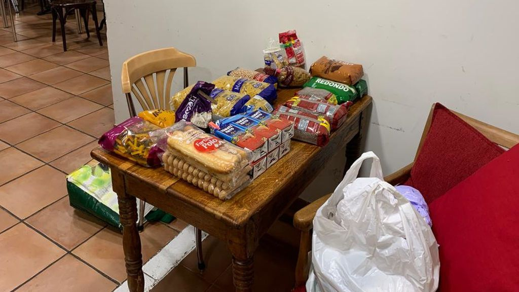 Algunos de los alimentos con los que contó Javier en su restaurante.