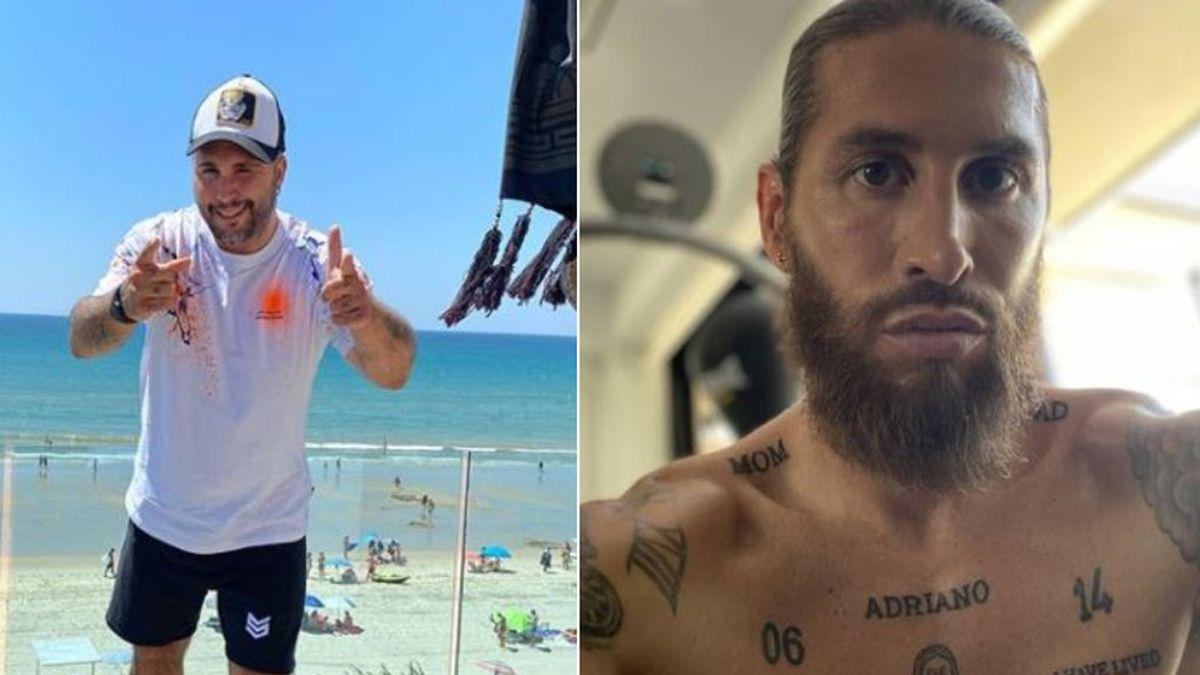 """Kiko Rivera reta a Sergio Ramos a una entrenamiento de pretemporada: """"Que te cojo gorrión"""""""