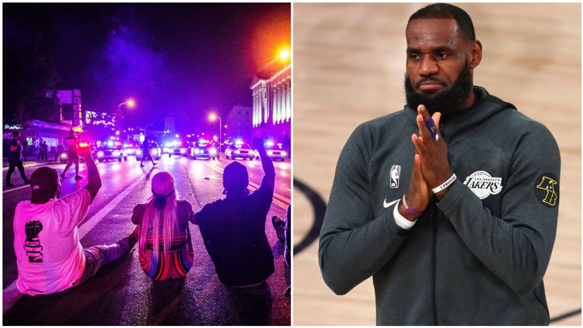 La protesta policial en Wisconsin y LeBron James, antes de un partido.