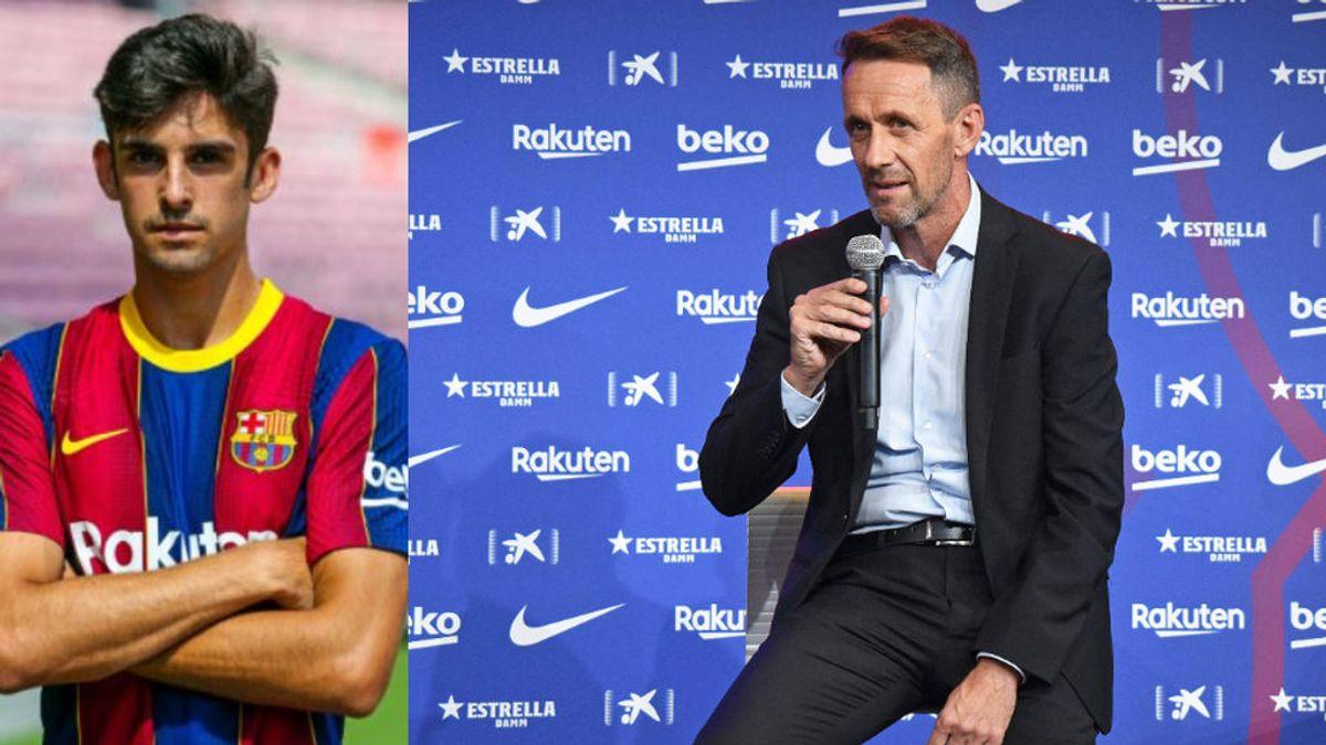 """Ramón Planes, en la presentación de Trincao: """"No contemplamos la salida de Messi"""""""