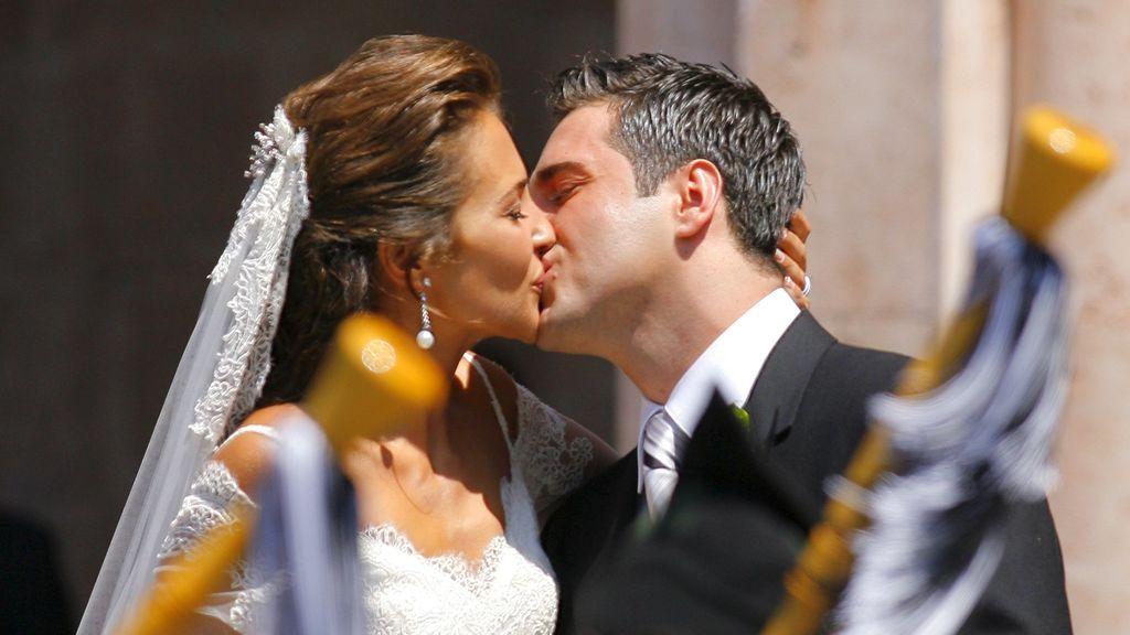 Paula y David pasaron por el altar en el año 2005 en la basílica de Covadonga, Asturias.
