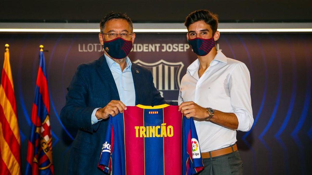 """Bartomeu guarda silencio sobre Messi y elogia a Trincao: """"Es talento y juventud"""""""