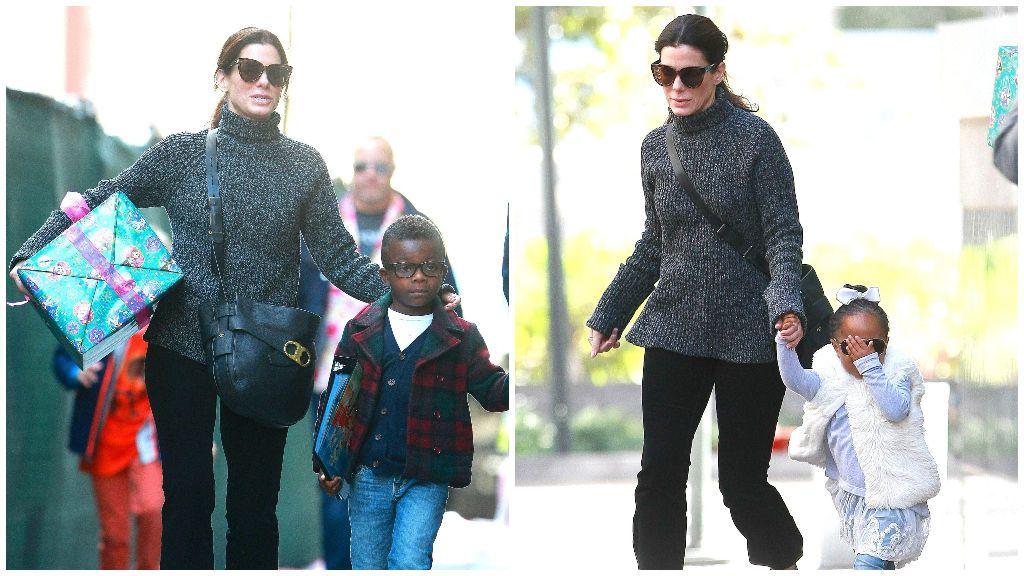 Sandra adoptó a Louis en el año 2010 y a Laila, cinco años después.