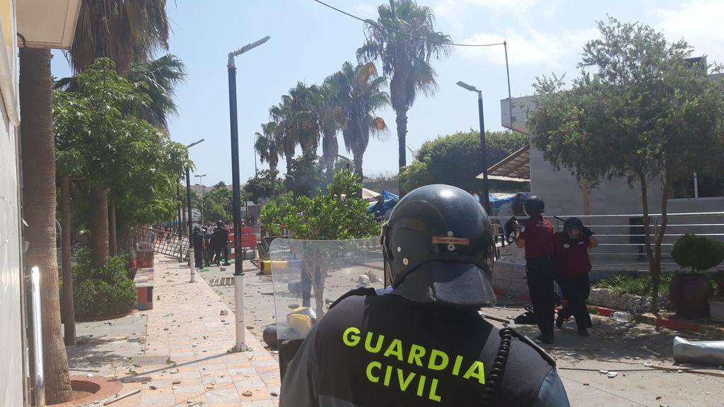Violento motín en el CETI de Melilla