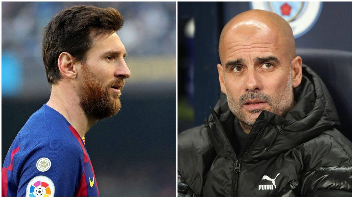 Leo Messi, con el Barcelona y Pep Guardiola, con el City.