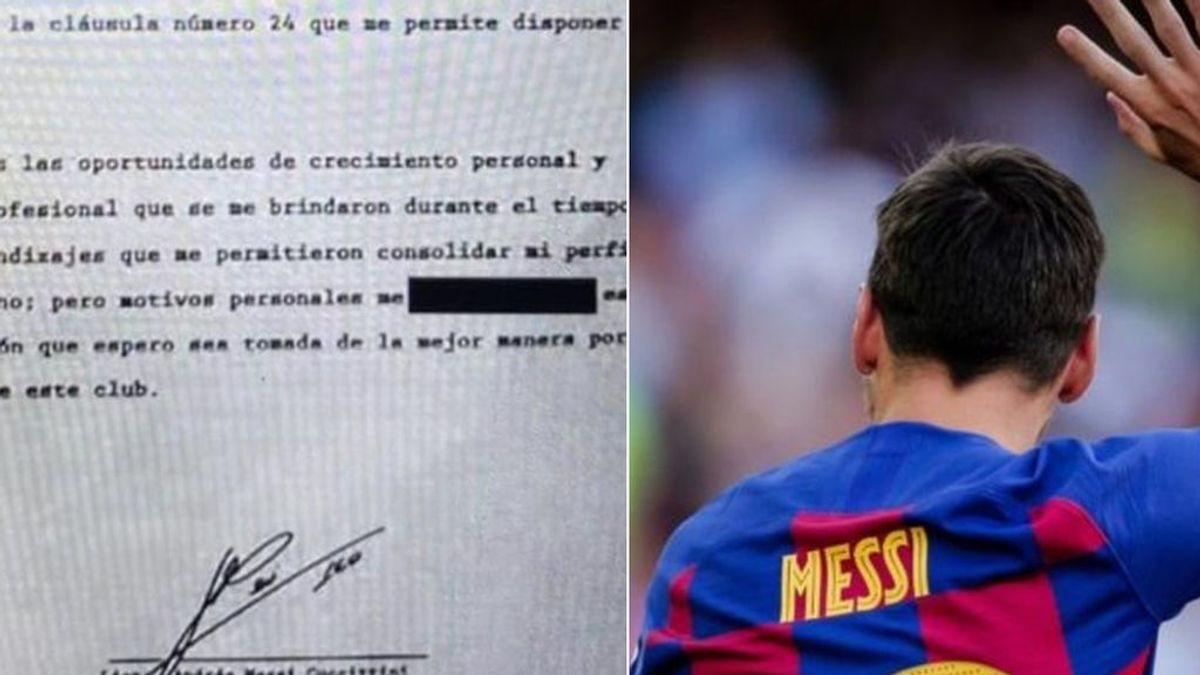 El contenido del burofax de Messi que envió al Barça y que circuló en redes es un fake