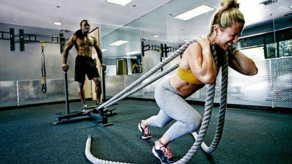 entrenamiento de arrastre con cuerda
