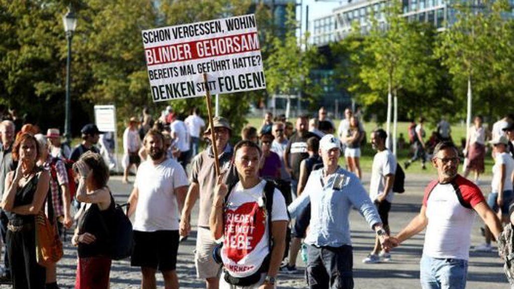 Manifestación de negacionistas del coronavirus en Berlín el pasado 1 de agosto 2020.