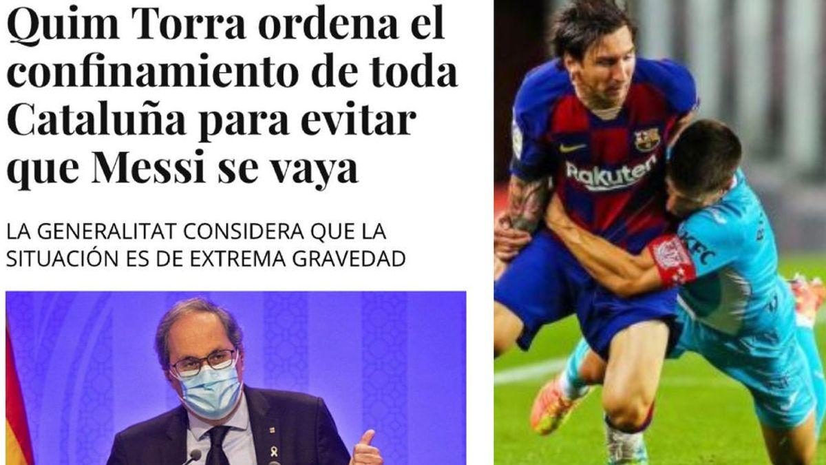 Lluvia de memes por el anuncio de la salida de Messi del Barça