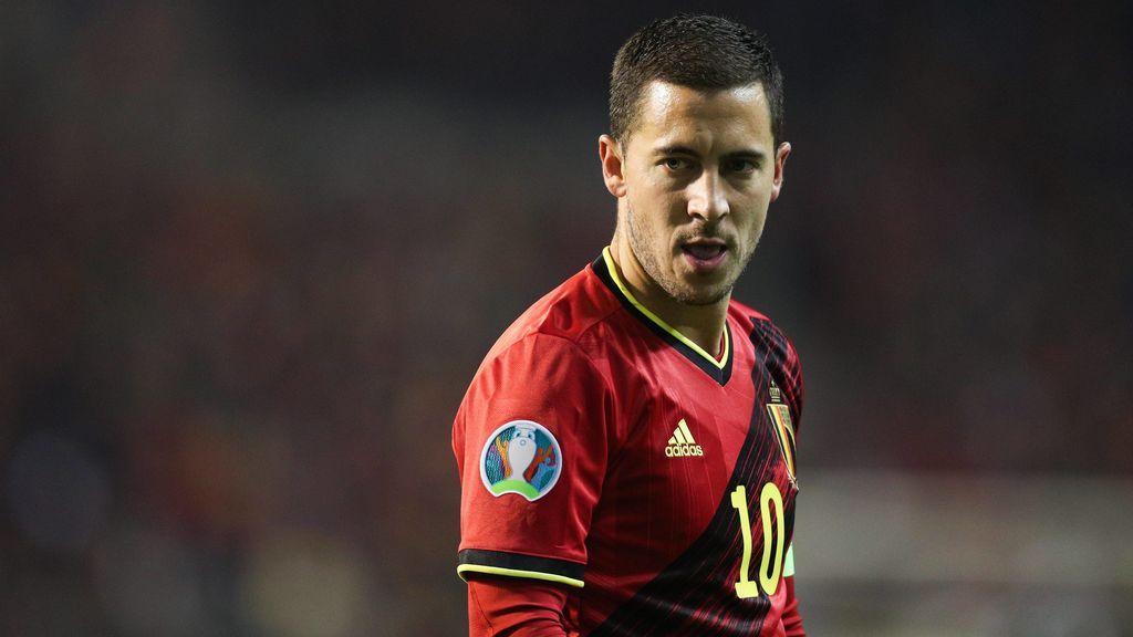Hazard, en un partido con la selección belga.
