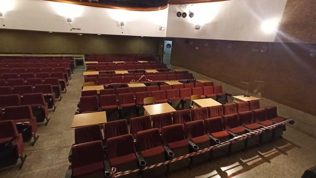 Salón de actor convertido en aula