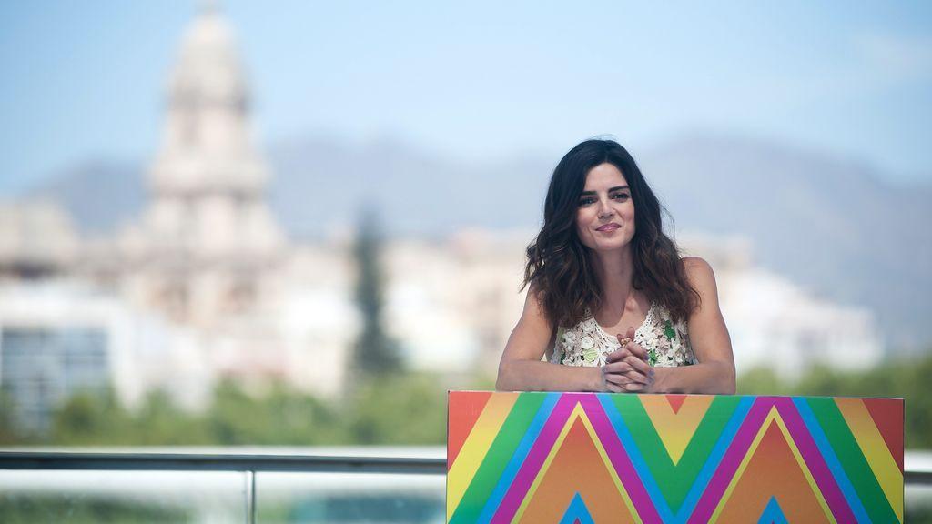 La actriz ha acudido al Festival de Málaga acompañada por su compañero Ernesto Alterio