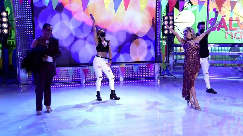 El dúo de Víctor y Miriam se 'separa' tras su actuación en la verbena de 'Sálvame'