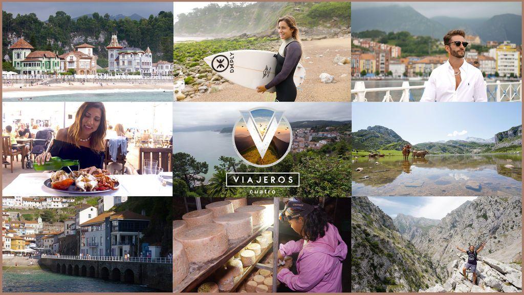 'Viajeros Cuatro' se adentra en Asturias de la mano de los influencers Pelayo Díaz e Isasaweis y la surfista Lucía Martiño