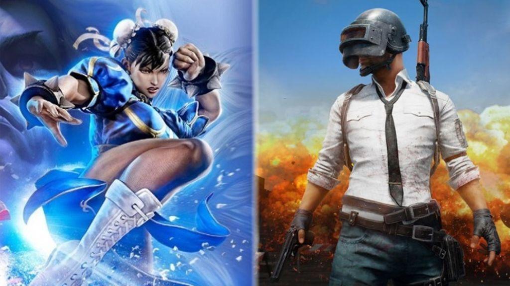 Street Fighter 5 y PlayerUnknown's Battlegrounds (PUBG)