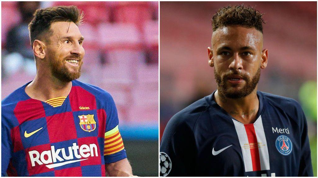 Messi, con el Barcelona, y Neymar, con el PSG.