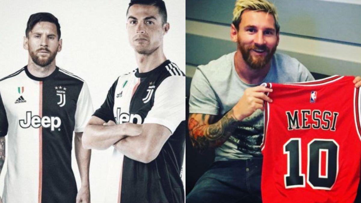 De ser compañero de Cristiano a fichar por los Bulls: los memes de Messi con sus camisetas