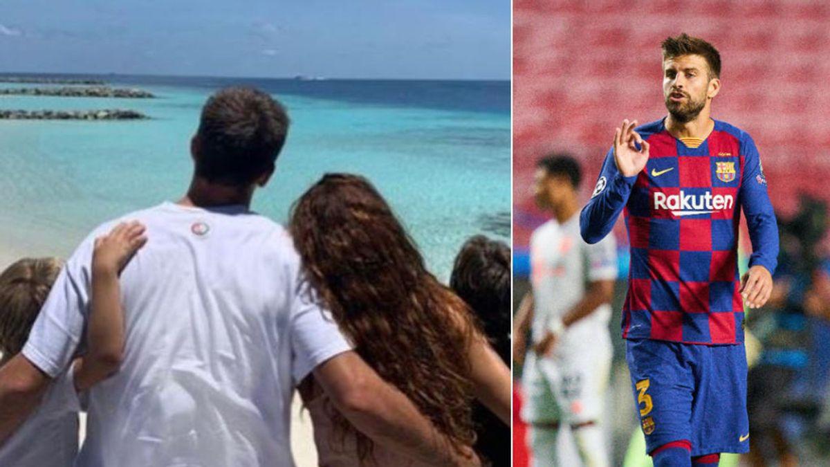 """Piqué reflexiona, junto a Shakira, sobre su futuro en el Barça desde la isla de Ithaafushi: """"Tiempo de familia"""""""