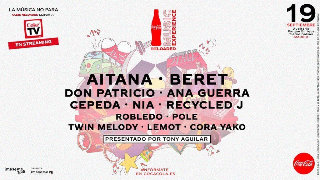 Podrás disfrutar del Coca-Cola Music Experience Reloaded también en streaming