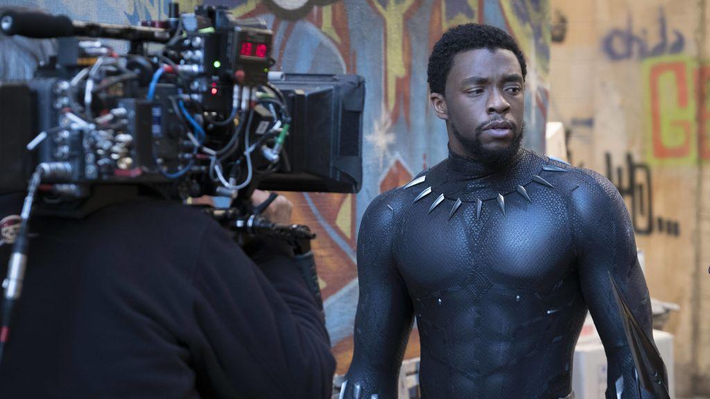 Chadwick Boseman, durante el rodaje de 'Black Panther'