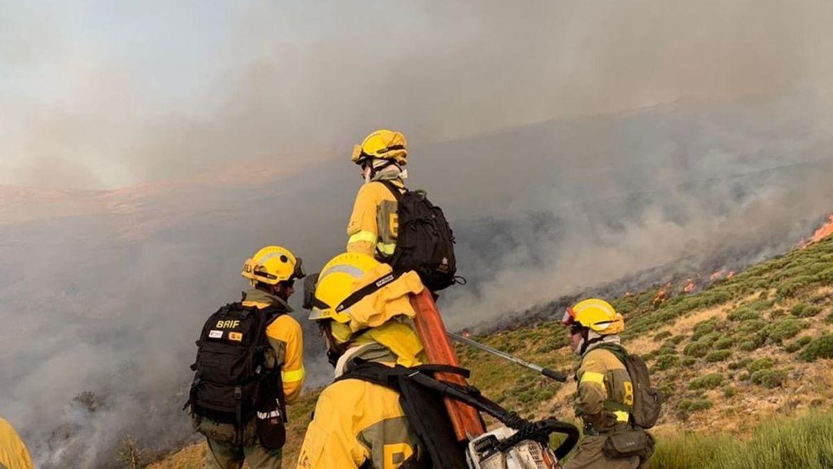 El incendio del Valle del Jerte sigue activo y en nivel dos de peligrosidad