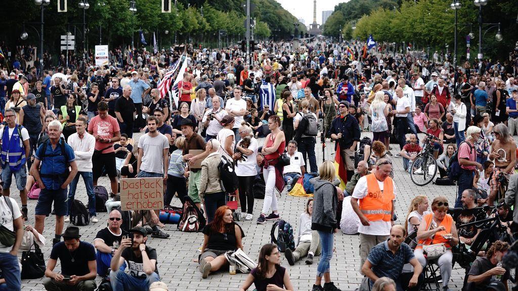 Nuevas concentraciones negacionistas en Berlín