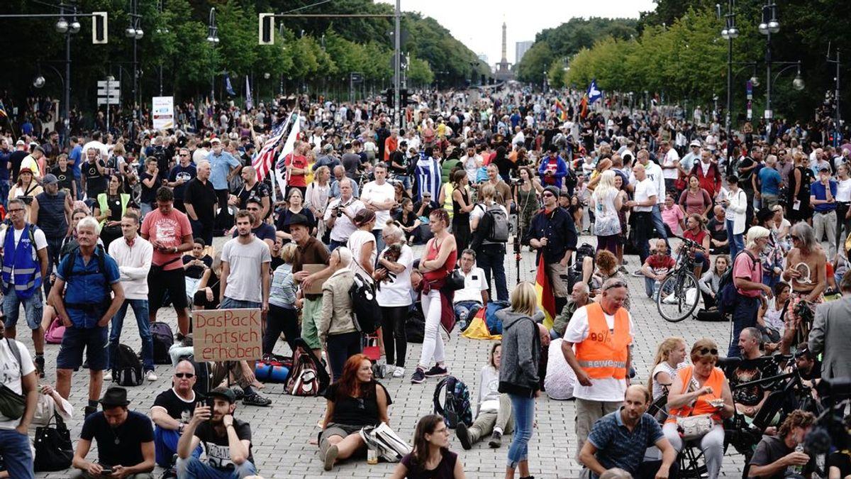 Los negacionistas de la pandemia vuelven a manifestarse este domingo en las calles de Berlín