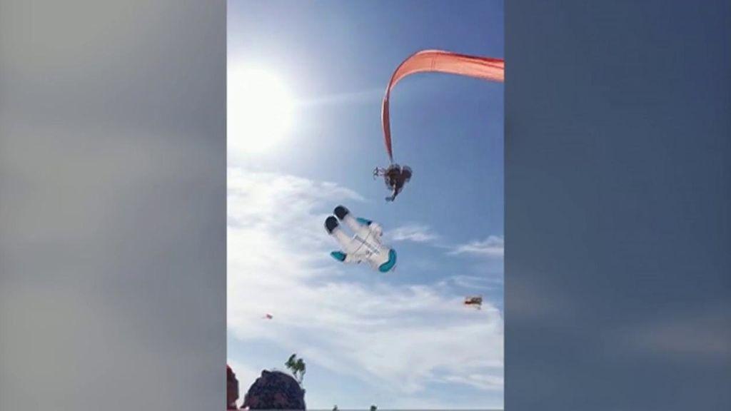 Un accidente que casi termina en tragedia: una niña salió volando agarrada a una cometa por el fuerte viento
