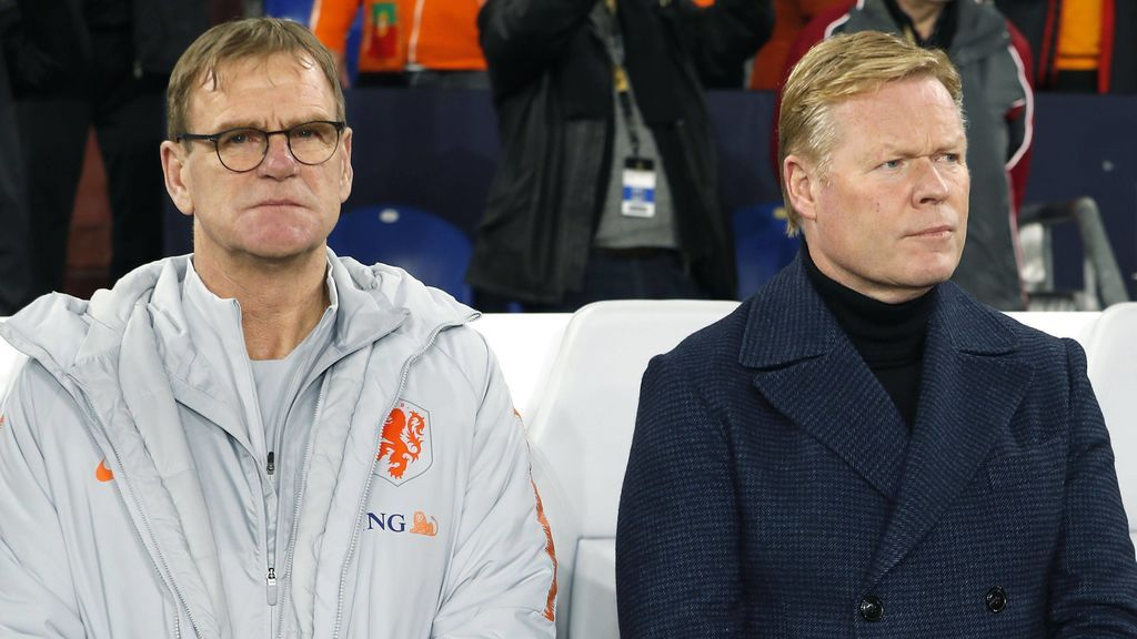 Lodeweges y Koeman, en el banquillo de Holanda.