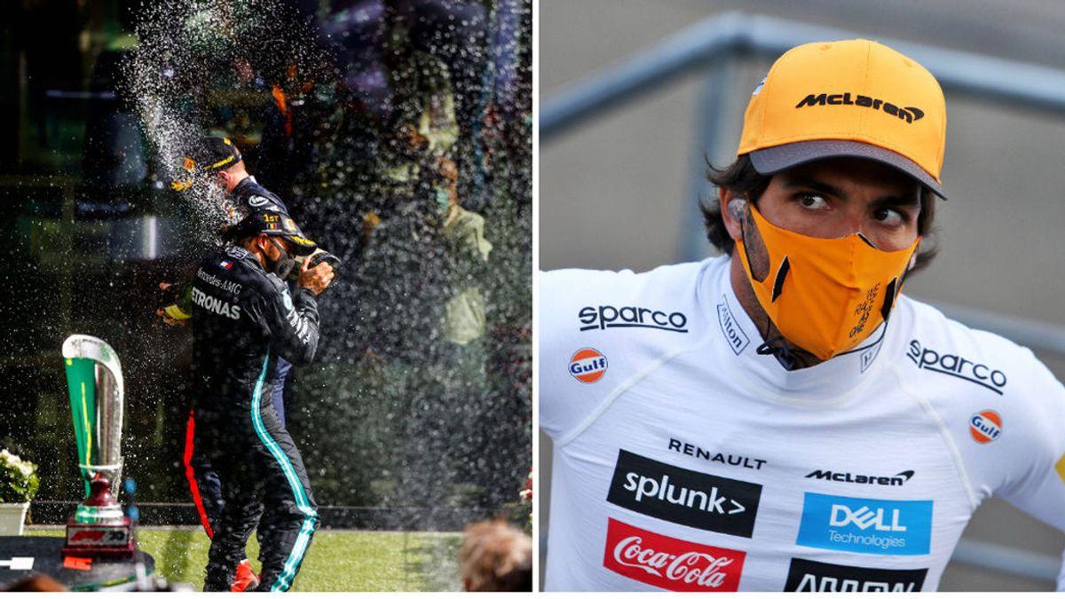 Hamilton afianza su liderato y Carlos Sainz sigue con su mala suerte: no llegó a salir por un problema en los escapes