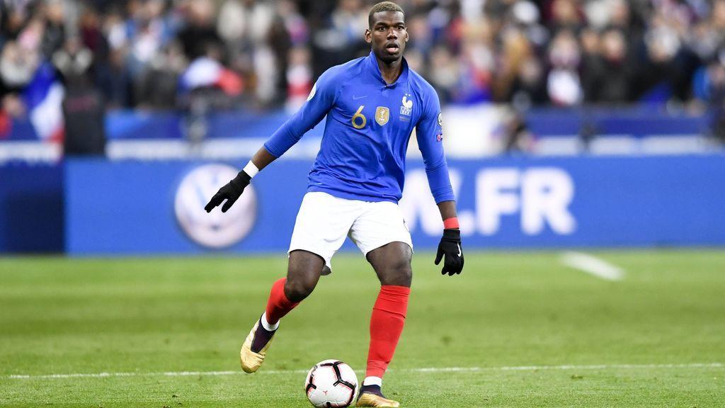 Pogba, en un partido con la selección francesa.
