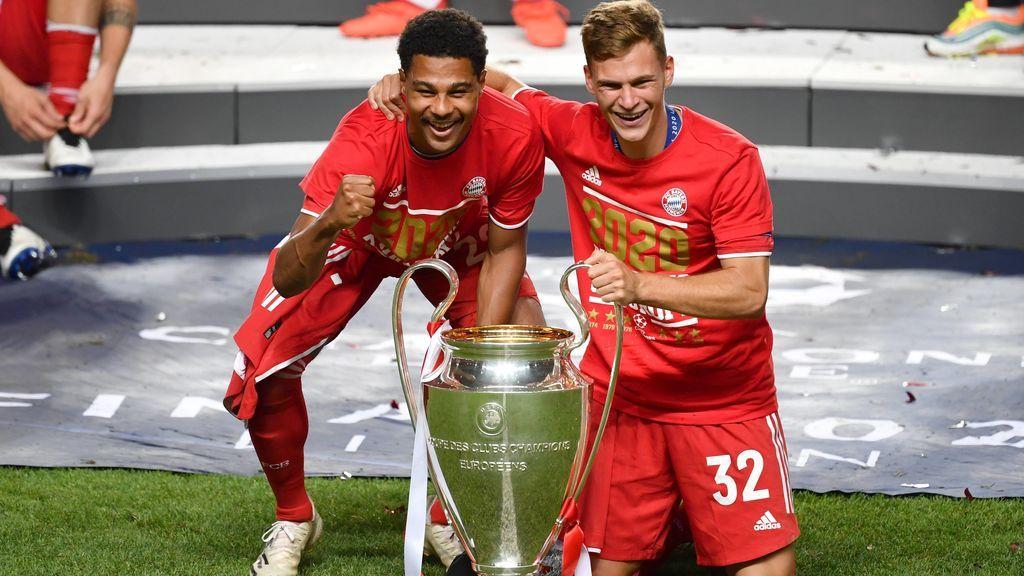 Gnabry y Kimmich, con la Champions.