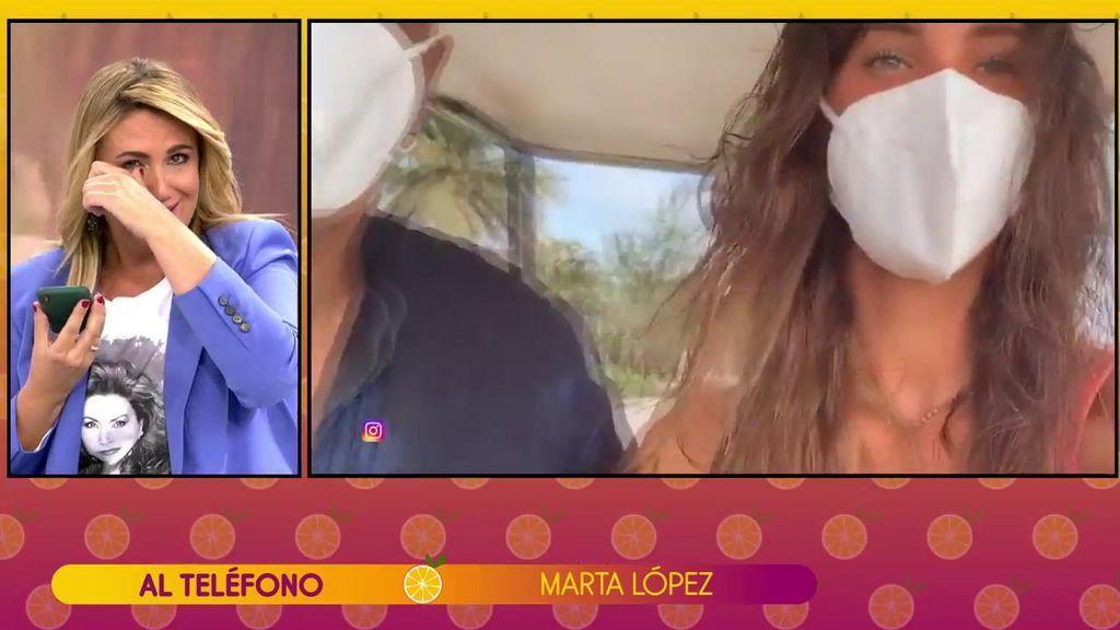 Marta López Álamo hace frente a los memes que genera con Kiko Matamoros