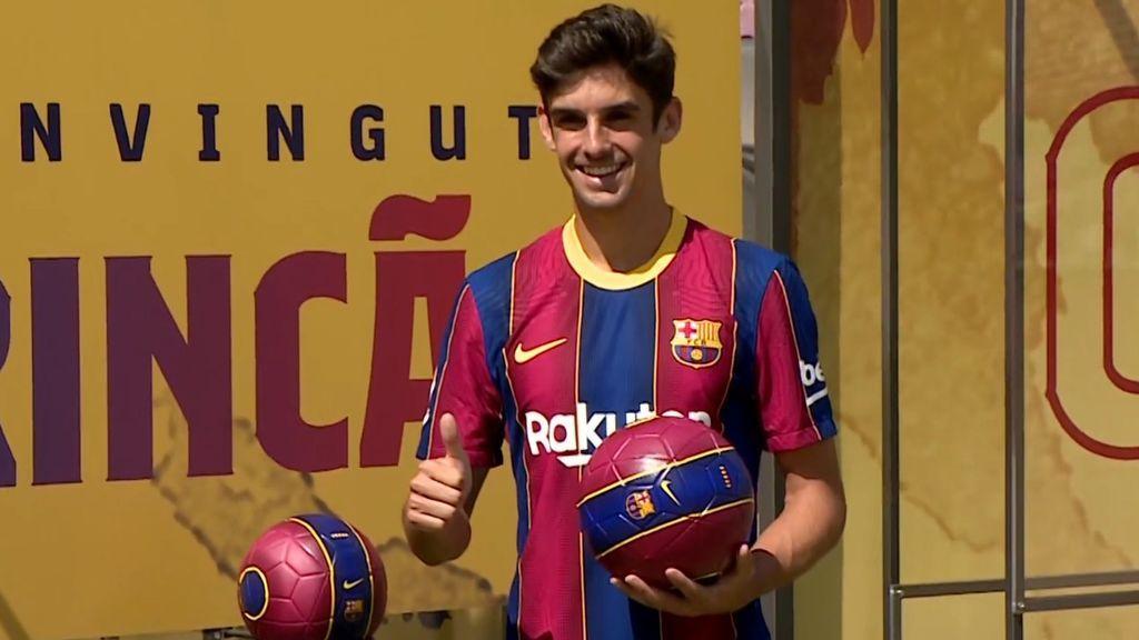 Trincao, en su presentación con el Barcelona.