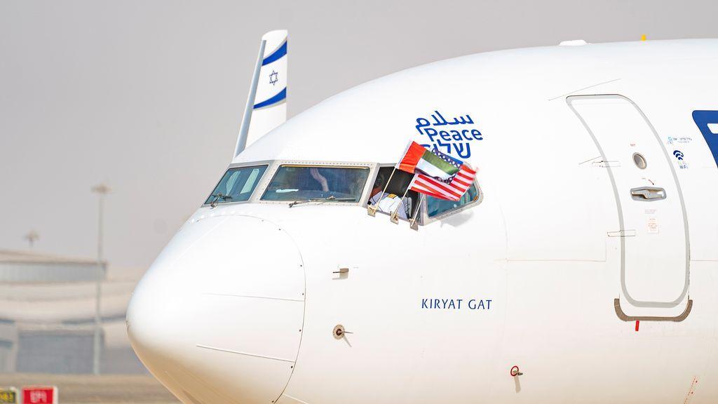 El avión que ha realizado el primer vuelo directo entre Israel y EAU