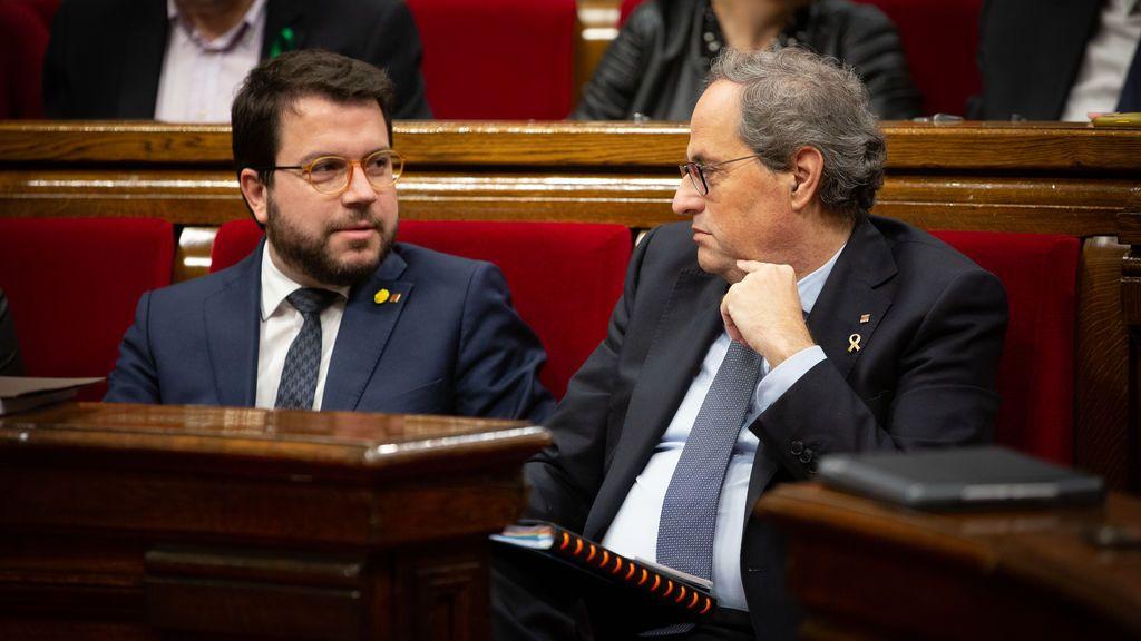 Aragonès anuncia una Generalitat sin president si el Supremo inhabilita a Torra