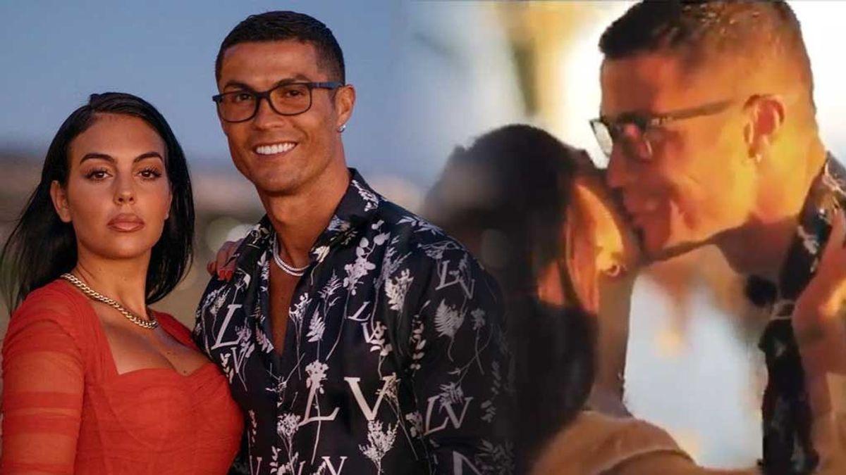 """Georgina Rodríguez y Cristiano Ronaldo celebran una fiesta: """"Besos y abrazos en tiempos de coronavirus, muy apropiado"""""""