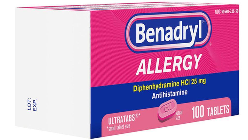 Benadryl, medicamento para la alergia que puede ser mortal en altas dosis