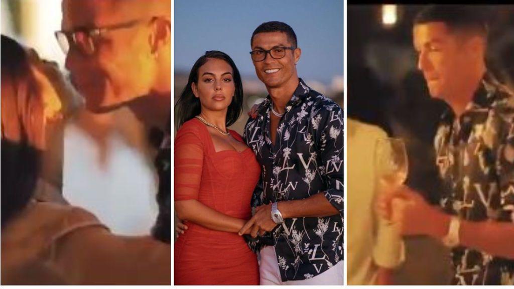 Cristiano y Georgina celebran su amor en una fiesta sin medidas sanitarias: sin mascarillas, con besos y abrazos y compartiendo comida