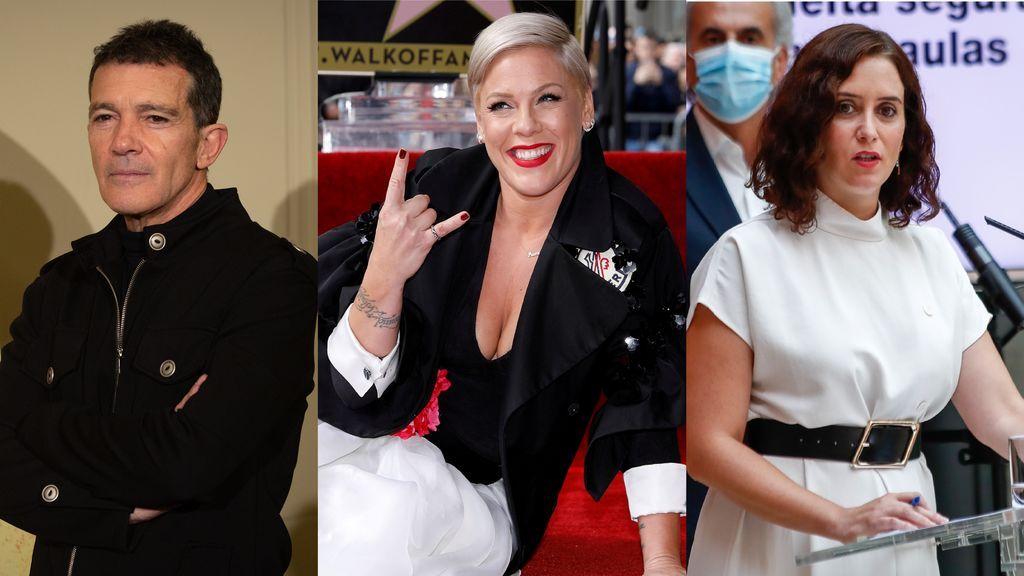 Los famosos y políticos que han superado el coronavirus: desde Antonio Banderas o Pink hasta Isabel Díaz Ayuso