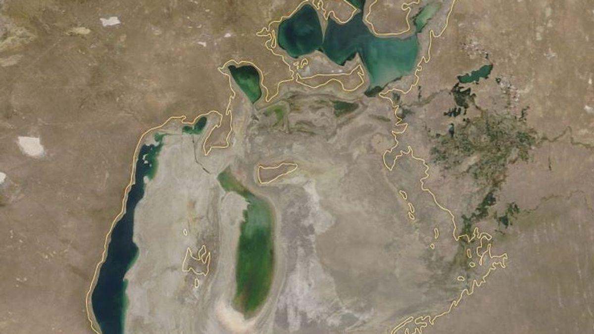El Mar de Aral se recupera lentamente después de casi secarse por completo