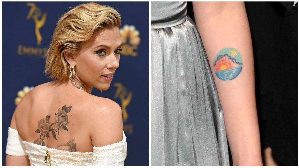 Las rosas tienen un significado especial para la actriz, así como el amanecer que lleva en su brazo.